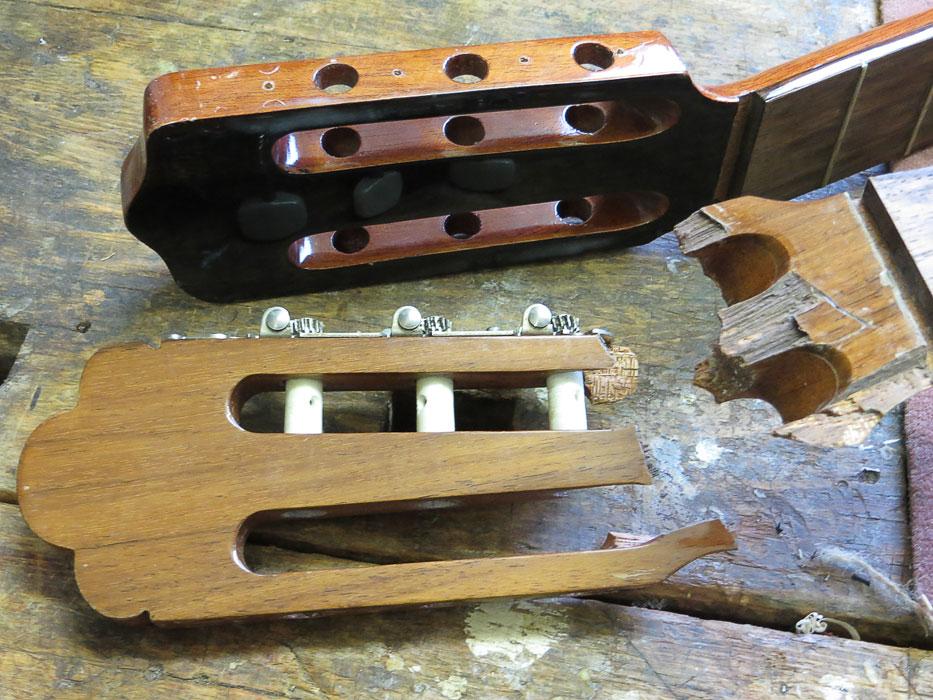 gebrochener Gitarrenhals